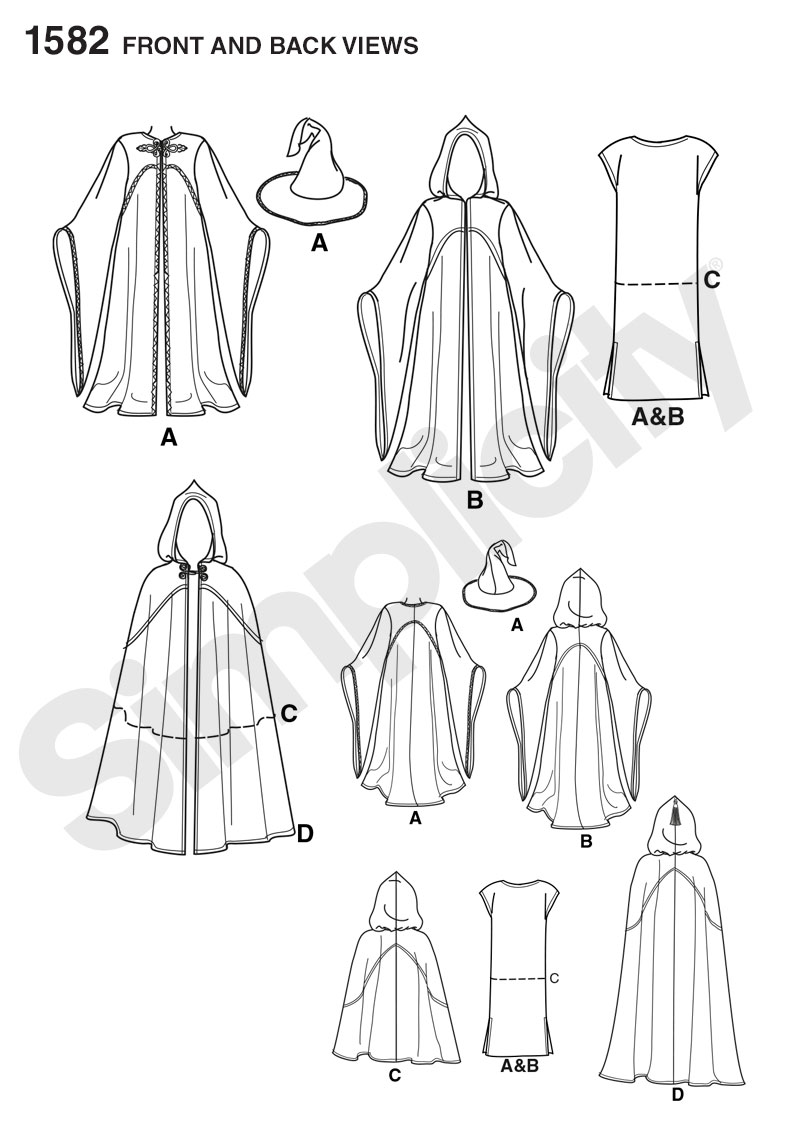 1582 Simplicity Pattern Misses Men S And Teen Costumes